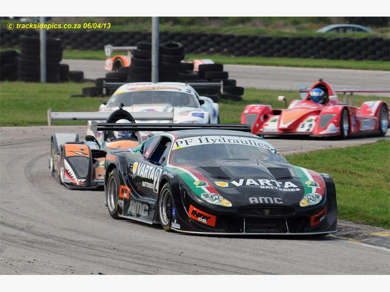 FIGHTER. Franco di Matteo (Varta Batteries Jaguar) will fight for victories in the GT V8 category. Picture: Tracksidepics.co.za.