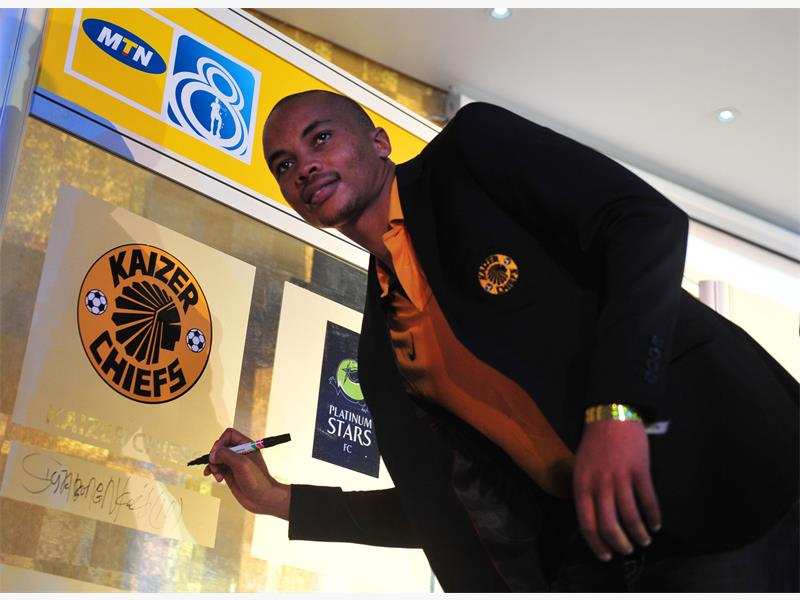 SIGNING IN. Chiefs' Siyabonga Nkosi during the MTN8 launch in Rivonia yesterday. Picture: Gallo Images