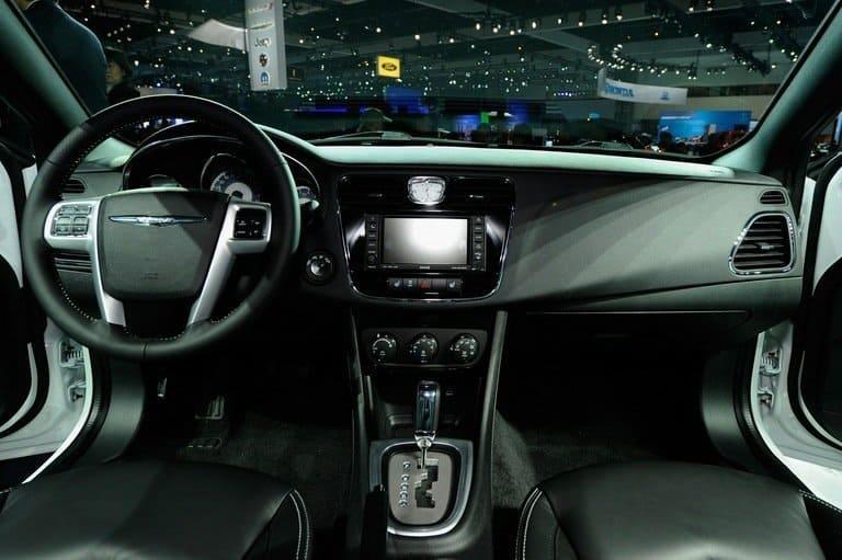 The dashboard of 2011 Chrysler 200