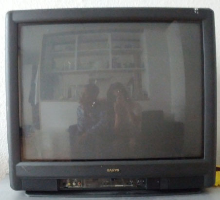 A CRT television from Sanyo. Image courtesy of Wiki media Commons.