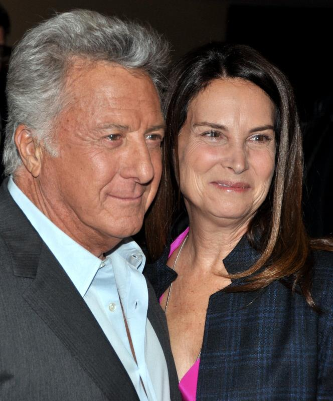 Dustin and Lisa Hoffman in Paris at the French premiere of