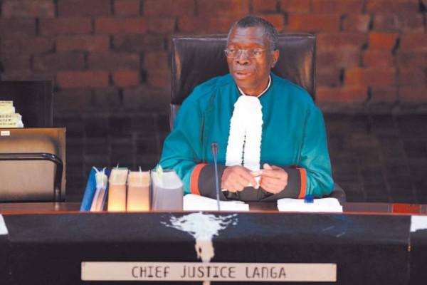 FILE PICTURE: Former Chief Justice Pius Langa . Picture: Michel Bega.