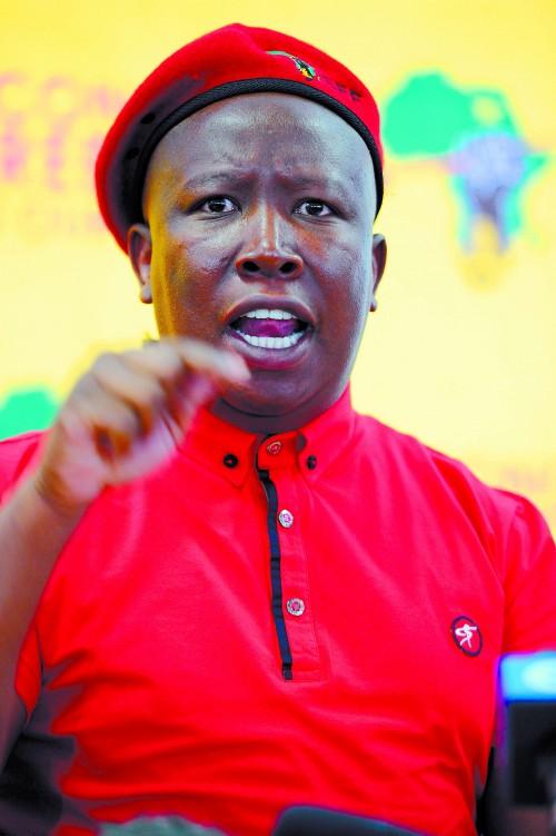 FILE PICTURE: Economic Freedom Fighters (EFF) leader Julius Malema. Picture: Michel Bega