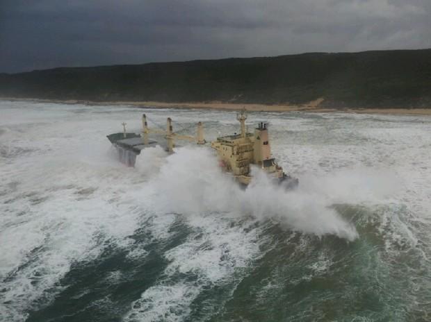 FILE PICTURE: Cargo ship Kiani Satu. Picture courtesy NSRI (www.nsri.org.za).