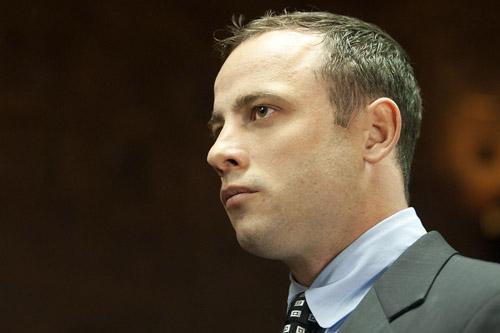 FILE PICTURE: Oscar Pistorius in the dock of Pretoria Magistrate Court. Picture: Christine Vermooten.
