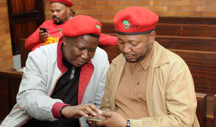 Malema and Ndlozi poke fun at old enemy Kunene's near-death experience