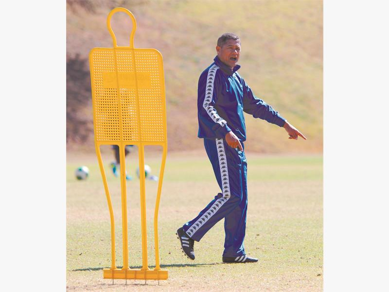 RARING TO GO. SuperSport United coach Cavin Johnson is relishing facing Orlando Pirates in the MTN8 at the Mbombela Stadium on Sunday. Picture: Backpagepix
