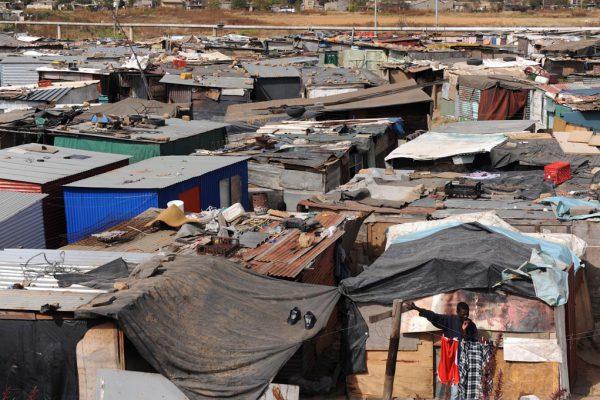 An informal settlement. Picture: Michel Bega.