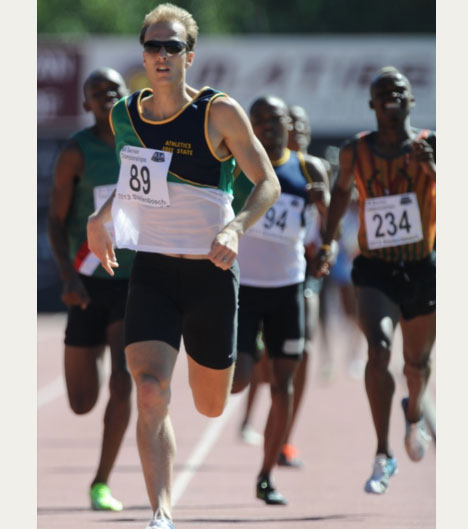 FILE PIC. Johan Cronje wins the mens 1500m final during day 2 of the SA Senior Championship from Coetzenburg Stadium on April 13, 2013 in Stellenbosch, South Africa.Photo by Roger Sedres/Gallo Images