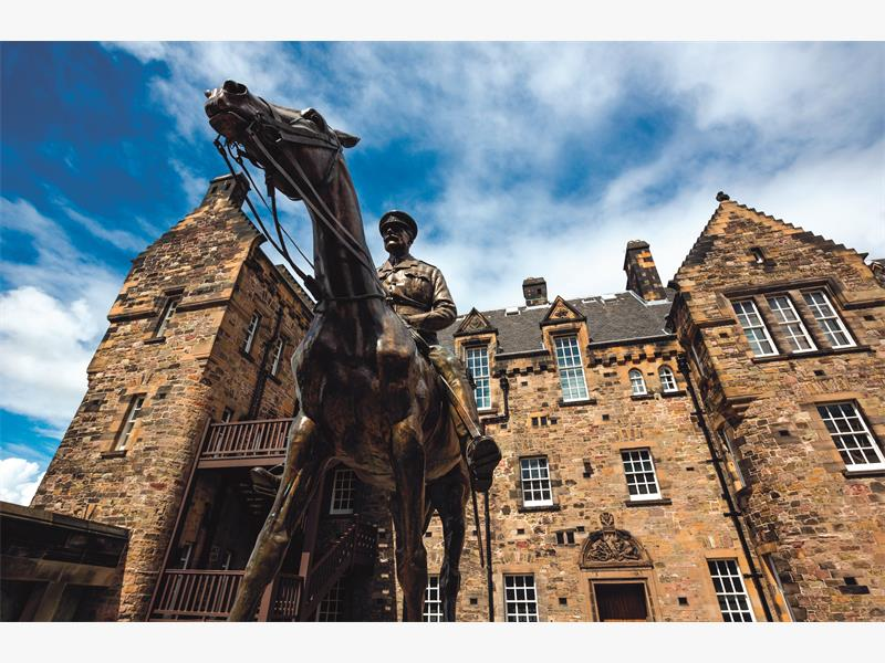 FORGOTTEN CHAMBERS. The equestrian statue of Field Marshal Earl Haig at Edinburgh Castle. Picture. AFP.