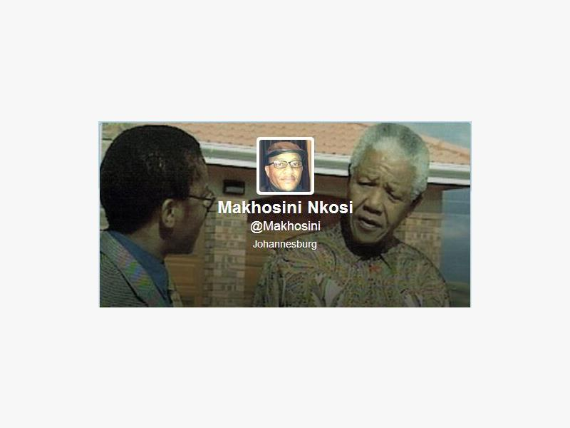 A picture of Makhosini Nkosi with former president Nelson Mandela.