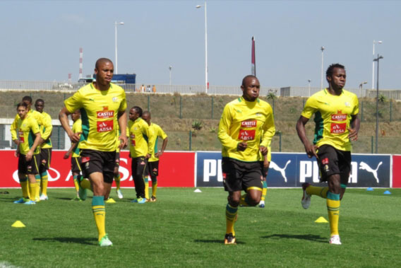 FILE PICTURE: Andile Jali, Bernard Parker and Bongani Khumalo during the South African National soccer team training. Picture: Anesh Debiky/Gallo Images.