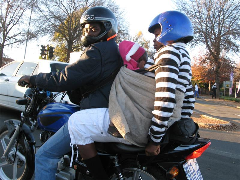 Another shocking 'biker-dad' moment caught on camera