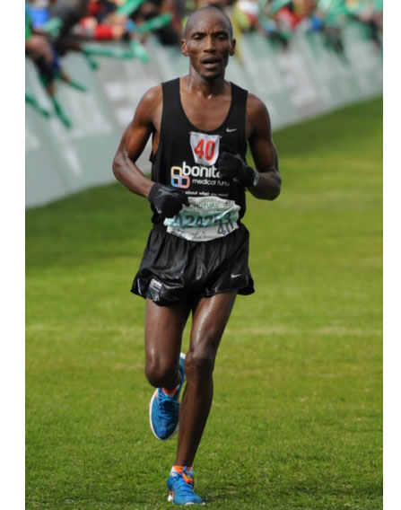 FILE PICTURE: CAPE TOWN, SOUTH AFRICA - MARCH 30, Johannes Kekana during the Old Mutual Two Oceans Ultra Marathon on March 30, 2013 in Cape Town, South Africa. Photo by ImageSA / Gallo Images