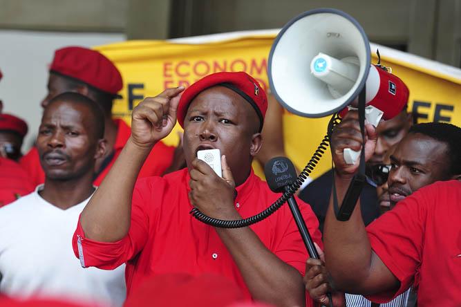 FILE PICTURE: EFF leader Julius Malema. Picture: Christine Vermooten