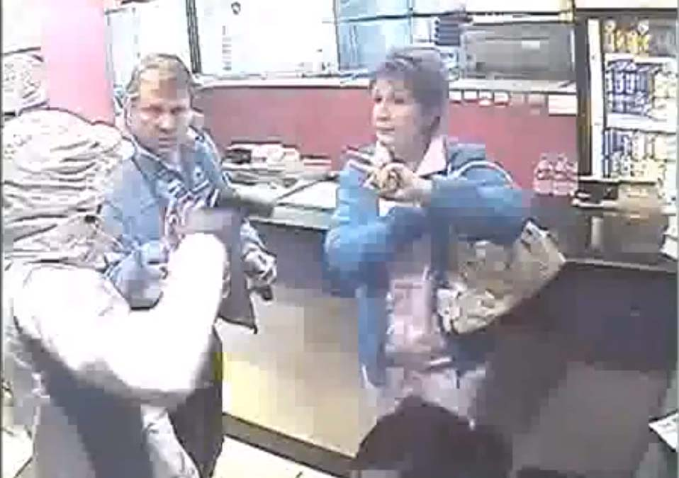 CCTV footage of a robbery that took place at the Romans Pizza store in Middleburg, Mpumalanga