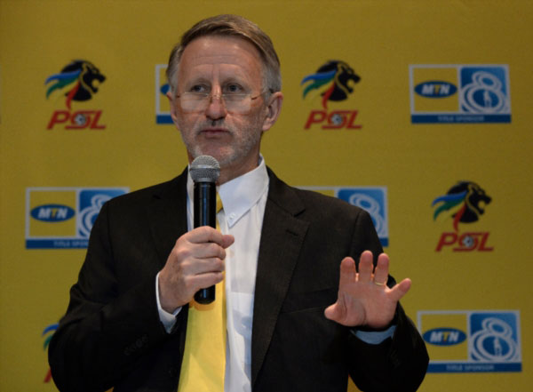 JOHANNESBURG, SOUTH AFRICA - SEPTEMBER 04: Derek Blanckensee of the PSL during the MTN8 Final Draw at PSL Offices on September 04, 2013 in Johannesburg, South Africa. (Photo by Duif du Toit/Gallo Images)