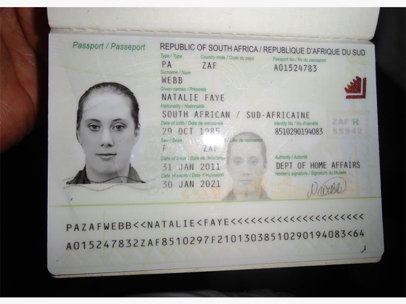 CORRUPTION. A photo of the fake SA passport of Samantha Lewthwaite, the widow of suicide bomber Jermaine Lindsay who blew himself up on a London Underground train in 2005, killing 26 people. She may be in the terrorist cell behind the Nairobi mall massacre.
