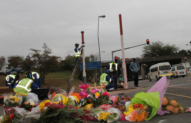 Small protest for Pinetown truck driver