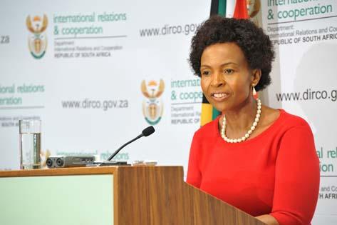 International Relations Minister Maite Nkoana-Mashabane. Picture: Dirco