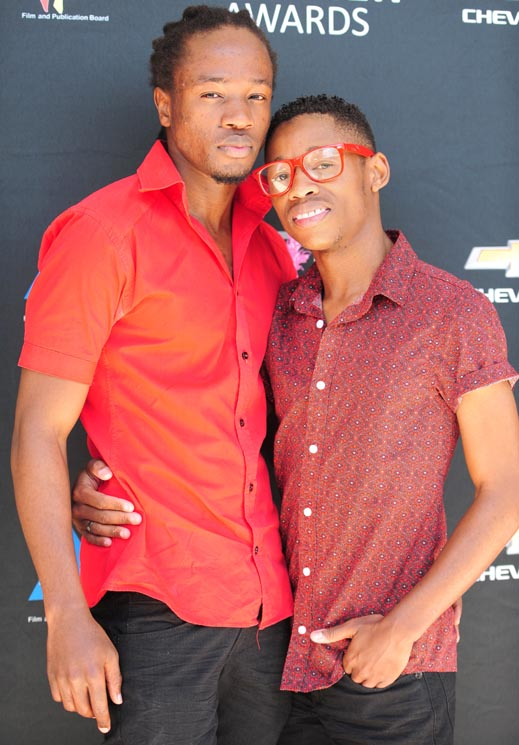 Thoba and Cameron Sithole-Modisane pose for a picture at the Feather Awards Nominations in Parktown, 8 October 2013.  They were nominated in the category Cutest couple.  Picture: Tracy Lee Stark
