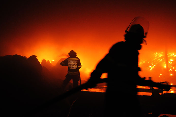 FILE PICTURE: Fire fighters in action. Picture: Alaister Russell