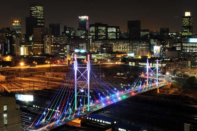 FILE PICTURE: The Nelson Mandela Bridge in Johannesburg. Picture: Michel Bega