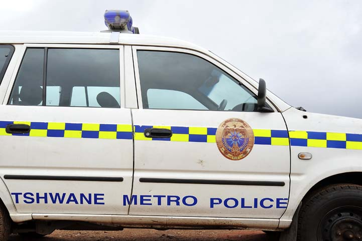FILE PICTURE: A Tshwane Metro Police car. Picture: Christine Vermooten