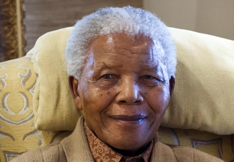 FILE PICTURE: Former South African President Nelson Mandela. PHOTO: AFP.