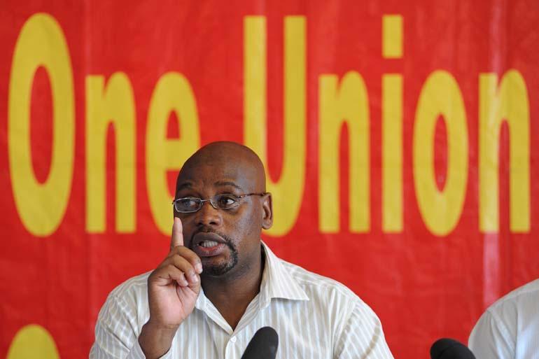 FILE PICTURE: Cosatu President Sidumo Dlamini. Picture by Michel Bega