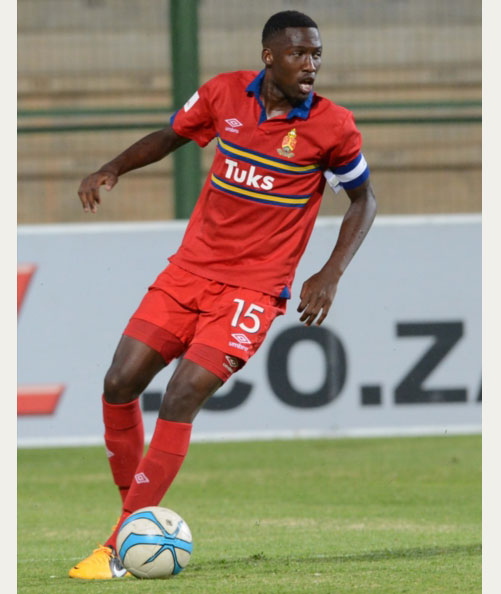 FILE PICTURE: Buhle Mkhwanazi of Tuks during the Absa Premiership match between University of Pretoria and Ajax Cape Town at Tuks Stadium on October 26, 2013 in Pretoria, South Africa. Photo by Lee Warren/Gallo Images.