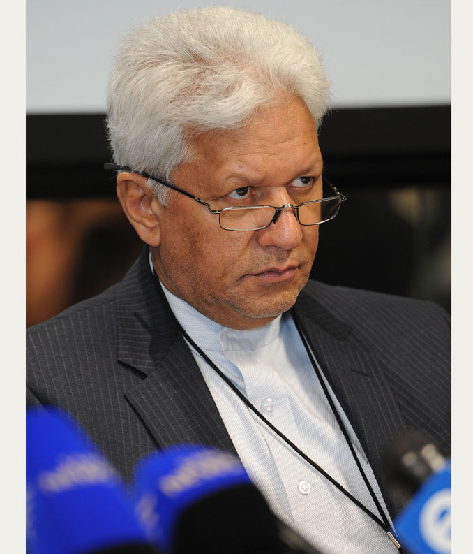 SANRAL's former CEO Nazir Ali looks on during a press briefing held by Transport Minister Dipuo Peters in Midrand, 24 November 2013, on the road agency's operational readiness for the commencement of e-tolling on 3 December. Picture: Refilwe Modise