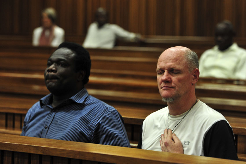 Ambrose Monye and Andre Gouws were described as ruthless by the judge in the North  Gauteng High Court. Picture: Christine Vermooten.