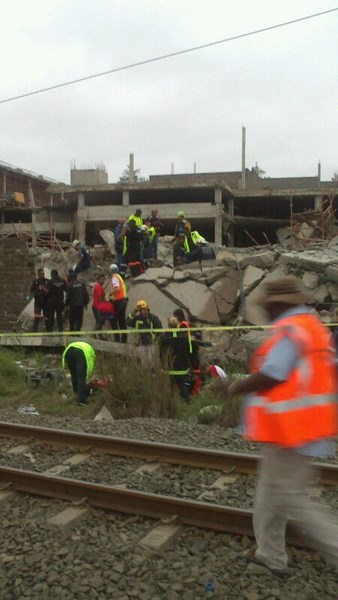 Image from the scene of the Tongaat shopping mall collapse in KwaZulu Natal. Picture CNS