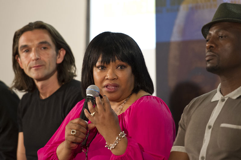 FILE PICTURE: Zindzi Mandela, daughter of Nelson Mandela, speaks at a press conference to promote the movie Long Walk To Freedom, 2 November 2013, at the Nelson Mandela Centre of Memory. The premier will be screened in Rosebank on November 3. Nelson Mandela will be portrayed by British actor Idris Elba and Winnie Madikizela-Mandela is portrayed by Naomie Harris. Picture: Michel Bega
