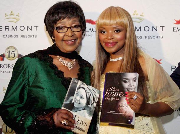Struggle stalwart Winnie Madikizela-Mandela and granddaughter Zoleka Mandela. Picture: Yolanda van der Stoep