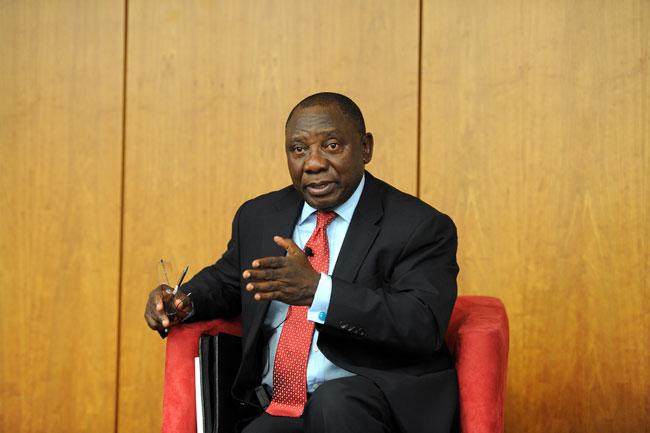 Deputy President Cyril Ramaphosa. Picture: Ayi Leshabane