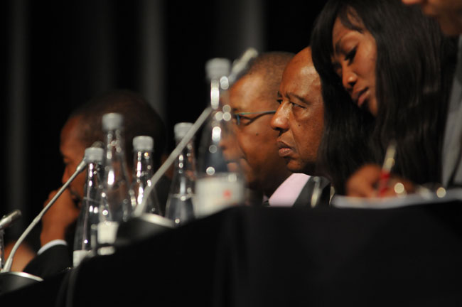 FILE PICTURE: Adv Dumisa Ntsebeza seen during the Marikana Inquiry ahead of proceedings being cancelled, Rustenburg, 3 October 2012. Picture: Refilwe Modise