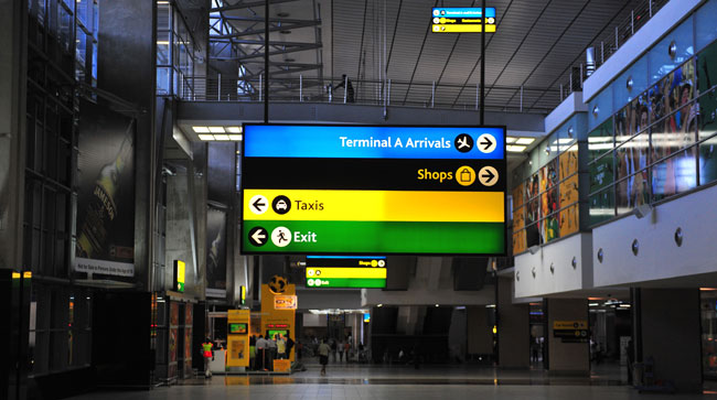 FILE PICTURE: Terminal B Domestic arrivals at OR Tambo International Airport in Ekurhuleni. Pic Neil McCartney