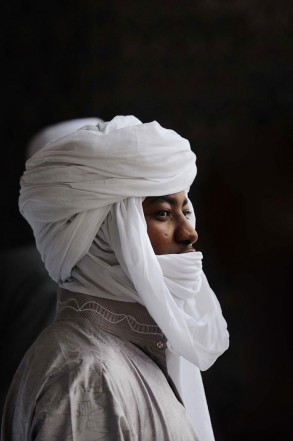A Muslim man from Chad is seen after morning prayers at the Nizamiye Mosque in Midrand, 9 August 2013, on the last day of Ramadan. Picture: Michel Bega