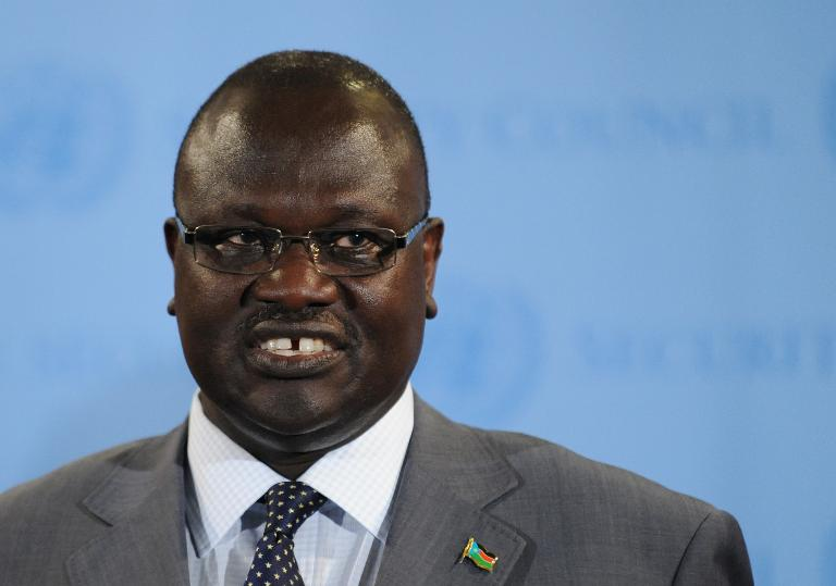 Riek Machar, first Vice-President of South Sudan, pictured at the UN headquarters in New York, on July 13, 2011