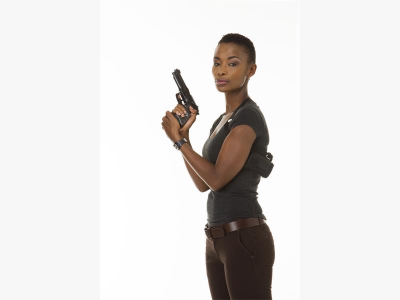 DEDICATED. Bonnie Mbuli plays a tough cop in new e.tv drama 'Traffic'.