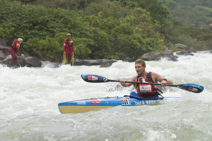 FILE PICTURE: Hank McGregor paddles down Tops Needle rapid during day 3 of The Unlimited Duzi 2013 from Inanda Dam to Blue Lagoon Beach on February 16, 2013 in Kwa-Zulu Natal, South Africa. Photo by Anthony Grote / Gallo Images