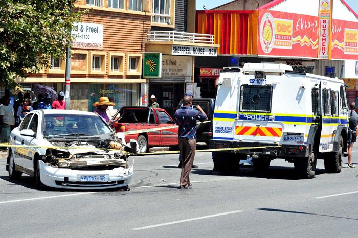 Police nyala crashes outside Brakpan court