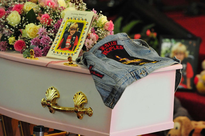 FILE PICTURE: The funeral of four year old Jasmine Lee Pretorius at the PPK  Lighuis church in Brakpan, 8 January 2014. Picture: Neil McCartney