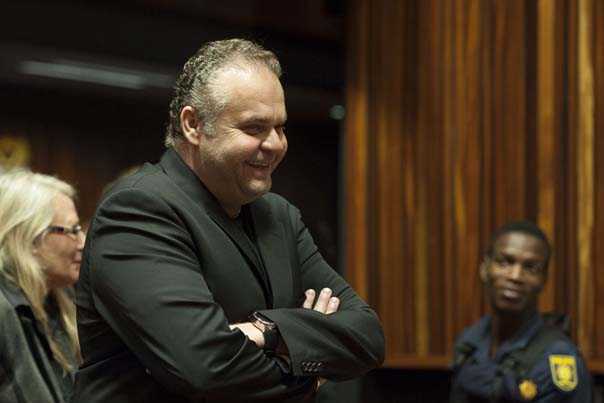FILE PICTURE: Czech fugitive Radovan Krejcir speaks to members of the media during an adjournment in the Palm Ridge Regional Court where he faces charges of kidnapping, assault and attempted murder, 24 January 2014. Picture: Refilwe Modise