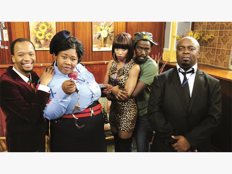 ALL IN CHECK. The cast of Check Coast. From left: Muzi Mthembu, Nomsa Buthelezi, Khanyi Mbau, Thabo Malema and Kabomo Vilakazi. <br />Pictures: Supplied.