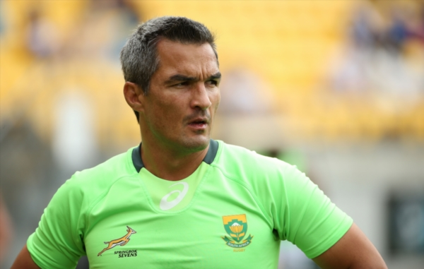 FILE PICTURE: South African coach Neil Powell instructs during the warm up for the Pool A match between South Africa and Wales at Westpac Stadium on February 7, 2014 in Wellington, New Zealand. PHOTO: AFP.