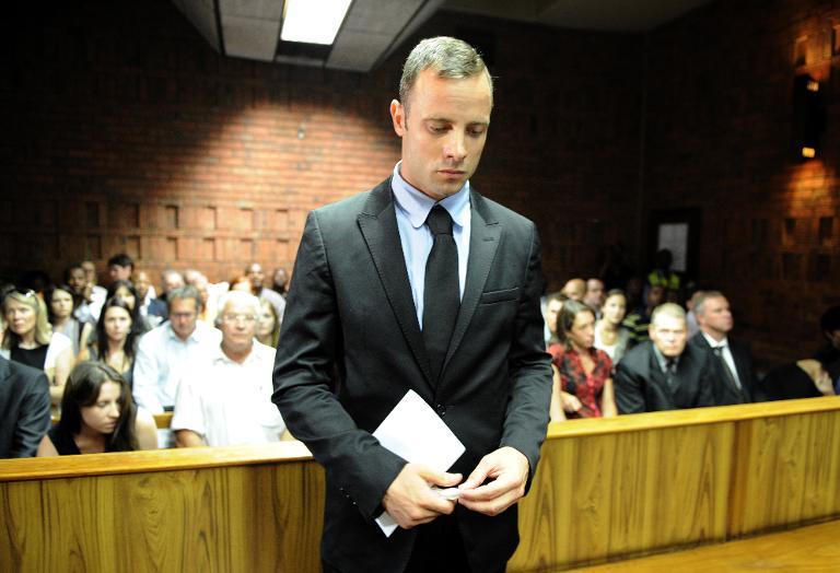 Oscar Pistorius at the Magistrate Court in Pretoria. Picture: AFP