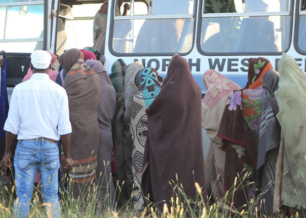 FILE PICTURE: Male initiates board a bus to receive health-care at a nearby health facility in Sannieshof. Picture: GCIS